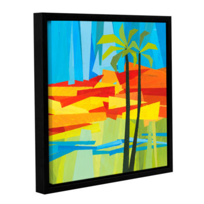 Brushstone Two Palms Gallery Wrapped Floater-Framed Canvas
