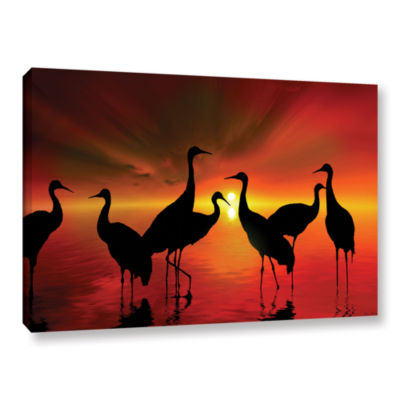Brushstone Water Sunset Gallery Wrapped Canvas Wall Art