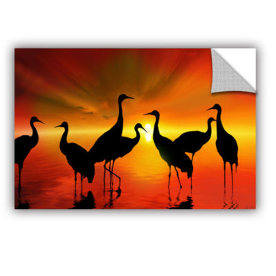 Brushstone Water Sunset Removable Wall Decal