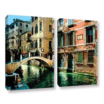 Brushstone Venice Canal 2-pc. Gallery Wrapped Canvas Set