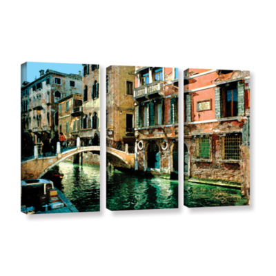 Brushstone Venice Canal 3-pc. Gallery Wrapped Canvas Set