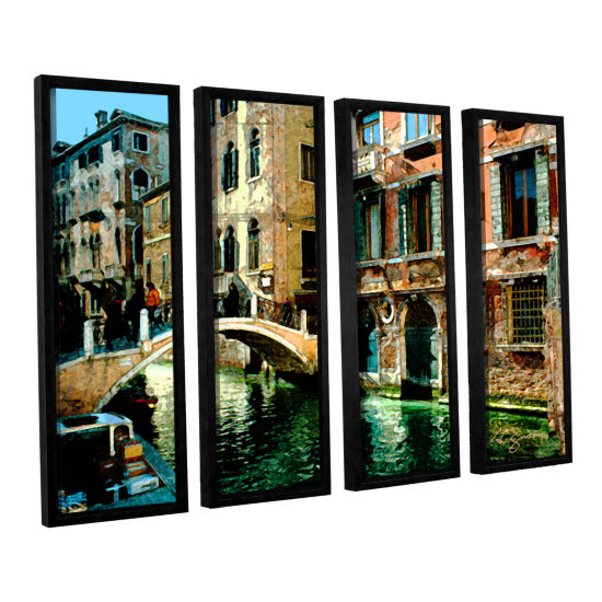 Brushstone Venice Canal 4-pc. Floater Framed Canvas Wall Art