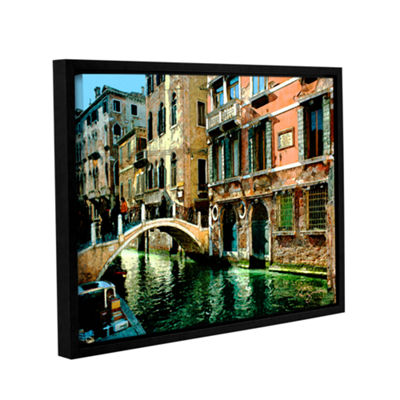 Brushstone Venice Canal Gallery Wrapped Floater-Framed Canvas Wall Art