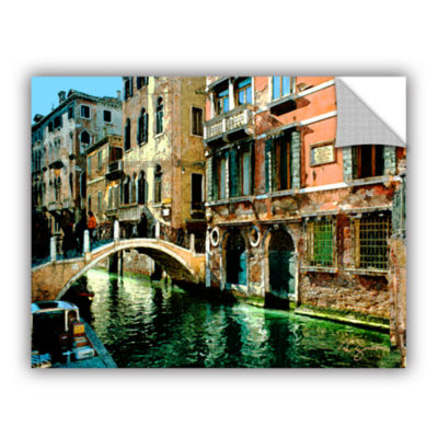 Brushstone Venice Canal Removable Wall Decal