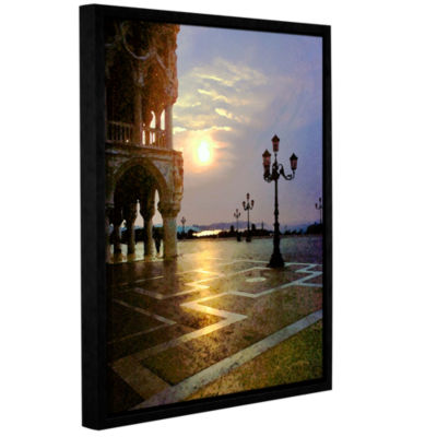 Brushstone Venice Piazza 2 Gallery Wrapped Floater-Framed Canvas