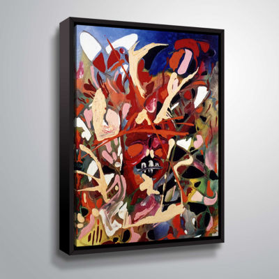 Brushstone Blast Gallery Wrapped Floater-Framed Canvas Wall Art