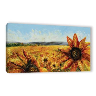Brushstone Blazing Sun Gallery Wrapped Canvas WallArt