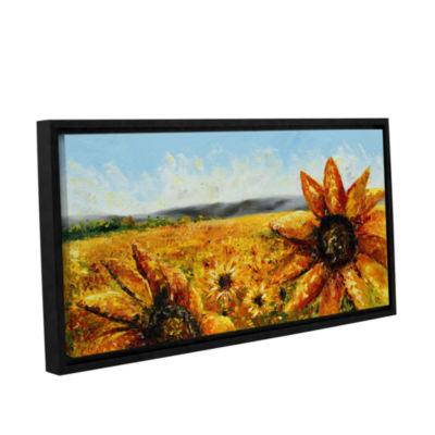 Brushstone Blazing Sun Gallery Wrapped Floater-Framed CanvasWall Art