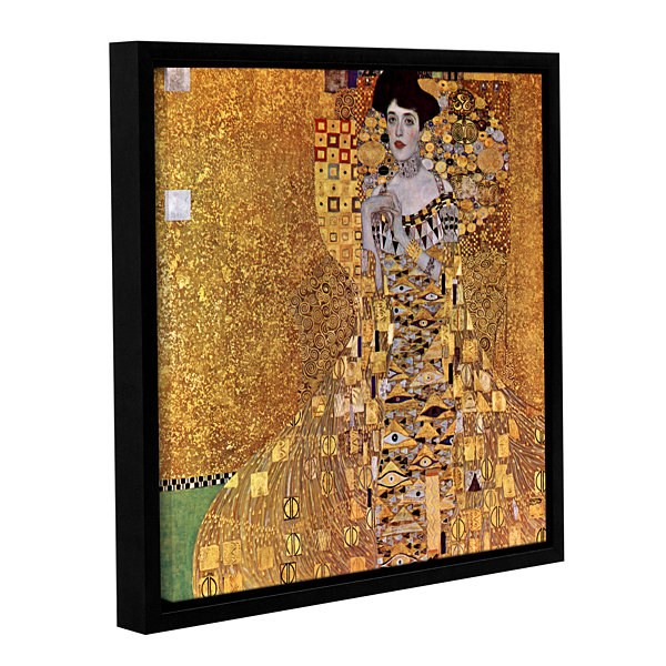 Brushstone Bloch Bauer Gallery Wrapped Floater-Framed CanvasWall Art