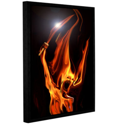 Blood Drunk Gallery Wrapped Floater-Framed CanvasWall Art