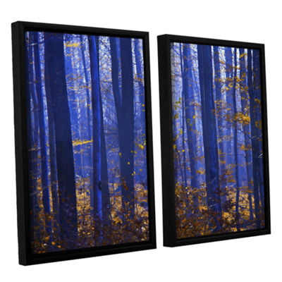 Blue Forest 2-pc. Floater Framed Canvas Wall Art