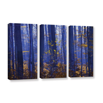 Blue Forest 3-pc. Gallery Wrapped Canvas Wall Art