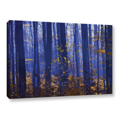 Blue Forest Gallery Wrapped Canvas Wall Art