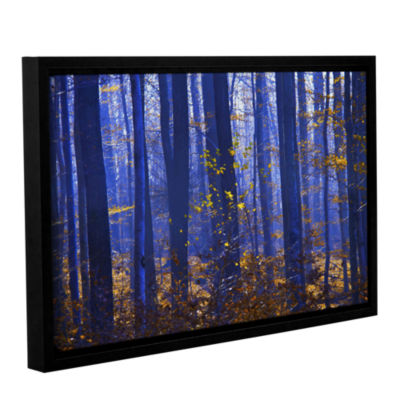 Blue Forest Gallery Wrapped Floater-Framed CanvasWall Art