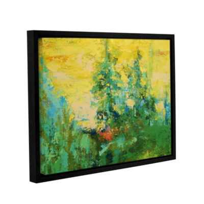 Blue Spruce Gallery Wrapped Floater-Framed CanvasWall Art