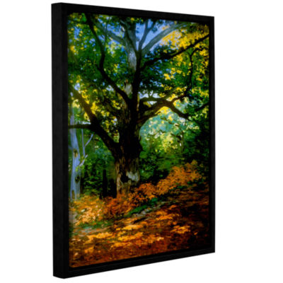 Bodmer Oak At Fountainbleau Forest Gallery WrappedFloater-Framed Canvas Wall Art