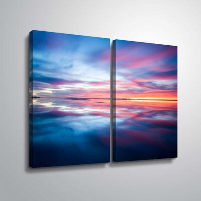 Bonnieville Salt Flats 2-pc. Gallery Wrapped Canvas Wall Art