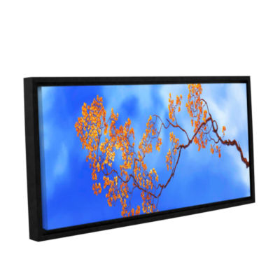 Bougainvillae Gallery Wrapped Floater-Framed Canvas Wall Art