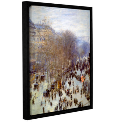 Boulevard Capucines Gallery Wrapped Floater-FramedCanvas Wall Art
