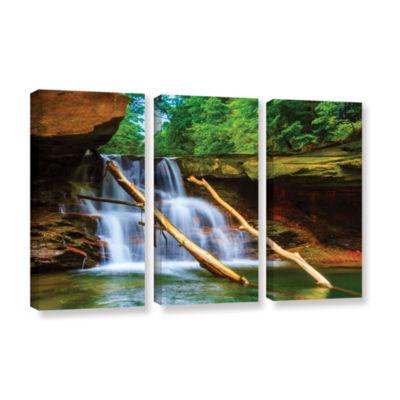 Brushstone Brecksville Falls 3-pc. Gallery WrappedCanvas Wall Art