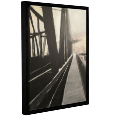 Brushstone Bridge Gallery Wrapped Floater-Framed Canvas Wall Art