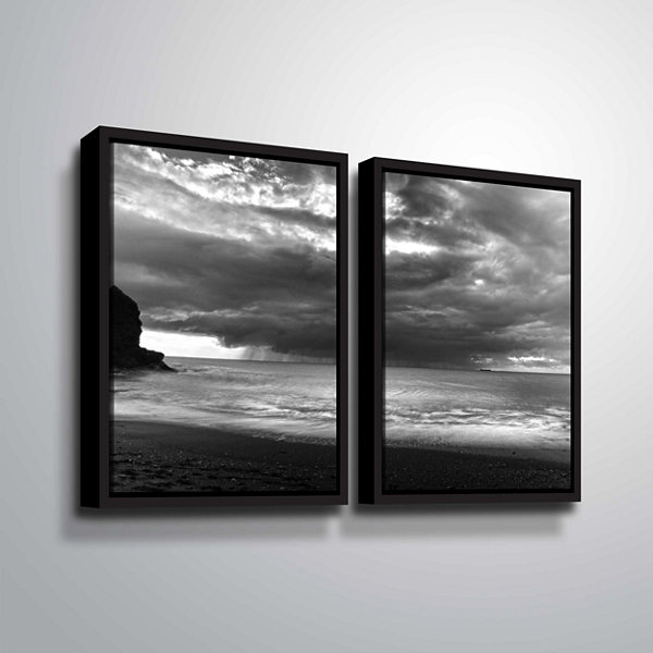 Boat On The Horizon 2-pc. Floater Framed Canvas Wall Art