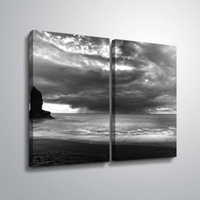 Boat On The Horizon 2-pc. Gallery Wrapped Canvas Wall Art