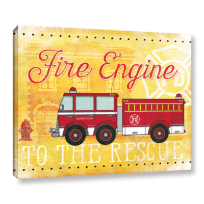 Brushstone Fire Rescue Gallery Wrapped Canvas WallArt