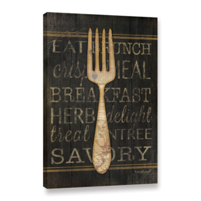 Brushstone Fork Gallery Wrapped Canvas Wall Art