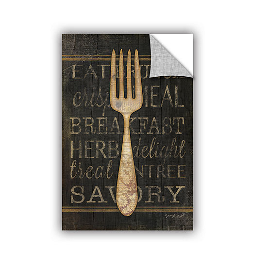 Brushstone Fork Removable Wall Decal