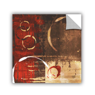 Brushstone Grunged Red Revolution I Removable WallDecal