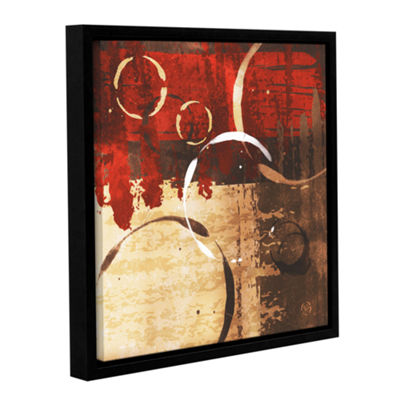 Brushstone Grunged Red Revolution II Gallery Wrapped Floater-Framed Canvas Wall Art