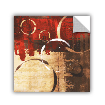 Brushstone Grunged Red Revolution II Removable Wall Decal