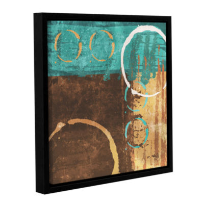 Brushstone Grunged Revolution I Gallery Wrapped Floater-Framed Canvas Wall Art