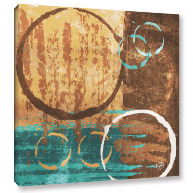 Brushstone Grunged Revolution II Gallery Wrapped Canvas Wall Art