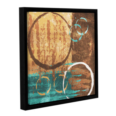 Brushstone Grunged Revolution II Gallery Wrapped Floater-Framed Canvas Wall Art
