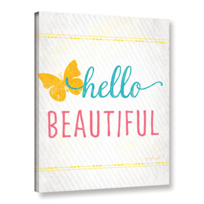 Brushstone Hello Gallery Wrapped Canvas Wall Art