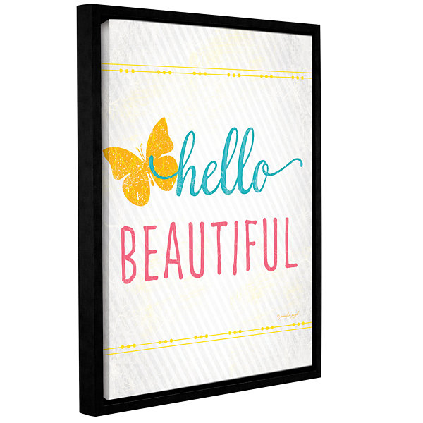 Brushstone Hello Gallery Wrapped Floater-Framed Canvas Wall Art