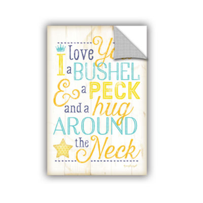 Brushstone I Love You A Bushel And A Peck Removable Wall Decal