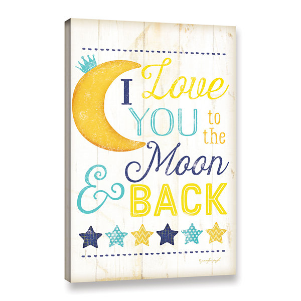 Brushstone I Love You To The Moon Gallery WrappedCanvas Wall Art