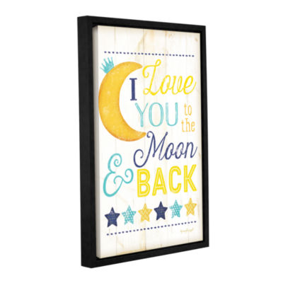 Brushstone I Love You To The Moon Gallery WrappedFloater-Framed Canvas Wall Art
