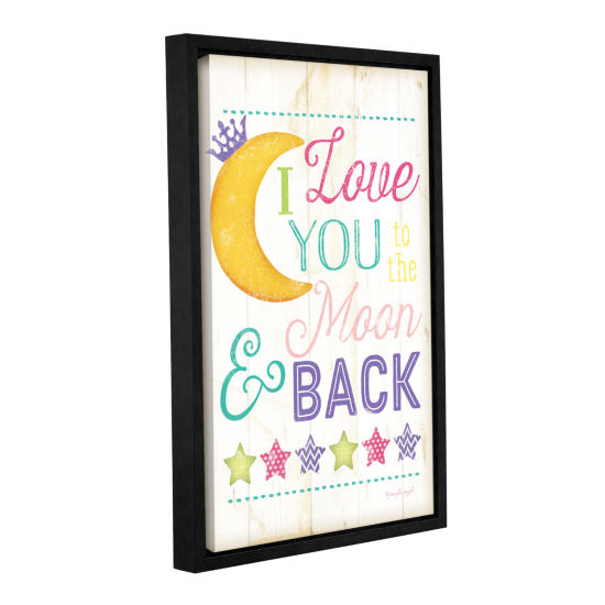 Brushstone I Love You To The Moon Girl Gallery Wrapped Floater-Framed Canvas Wall Art