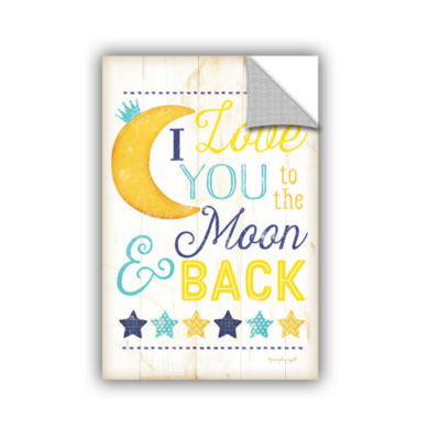 Brushstone I Love You To The Moon Removable Wall Decal