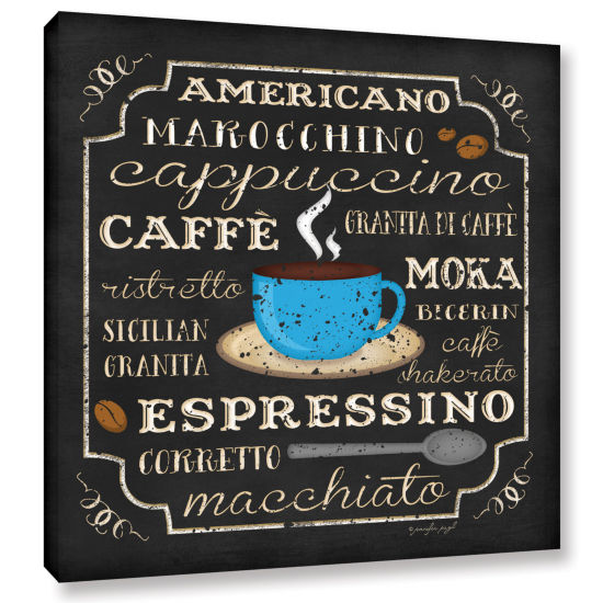 Brushstone Italian Coffee Gallery Wrapped Canvas Wall Art