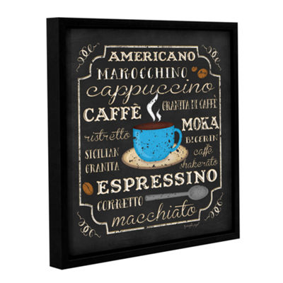Brushstone Italian Coffee Gallery Wrapped Floater-Framed Canvas Wall Art