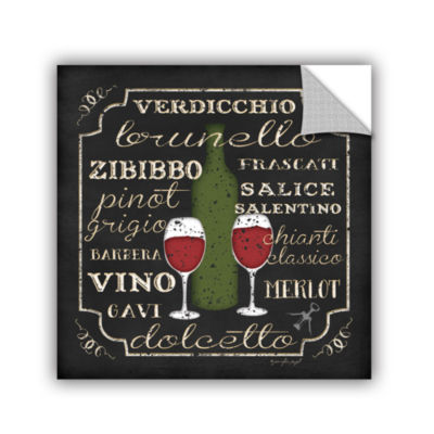 Brushstone Italian Wine Removable Wall Decal