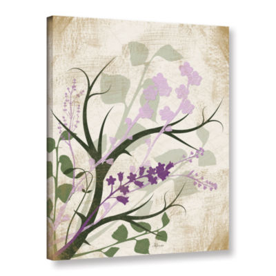 Brushstone Lavender And Sage Flourish Gallery Wrapped Canvas Wall Art