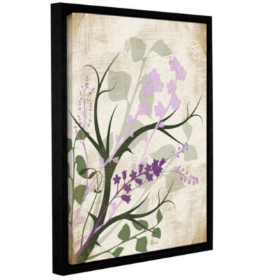 Brushstone Lavender And Sage Flourish Gallery Wrapped Floater-Framed Canvas Wall Art