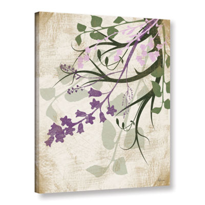 Brushstone Lavender And Sage Flourish II Gallery Wrapped Canvas Wall Art