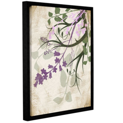Brushstone Lavender And Sage Flourish II Gallery Wrapped Floater-Framed Canvas Wall Art